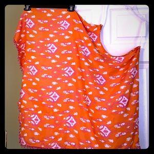Mudpie summer poncho or dress-hot pink & orange